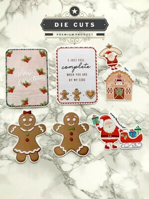 Christmas Diecut Set | Cute Holiday Functional Planner Countdown Erin Condren Happy Planner