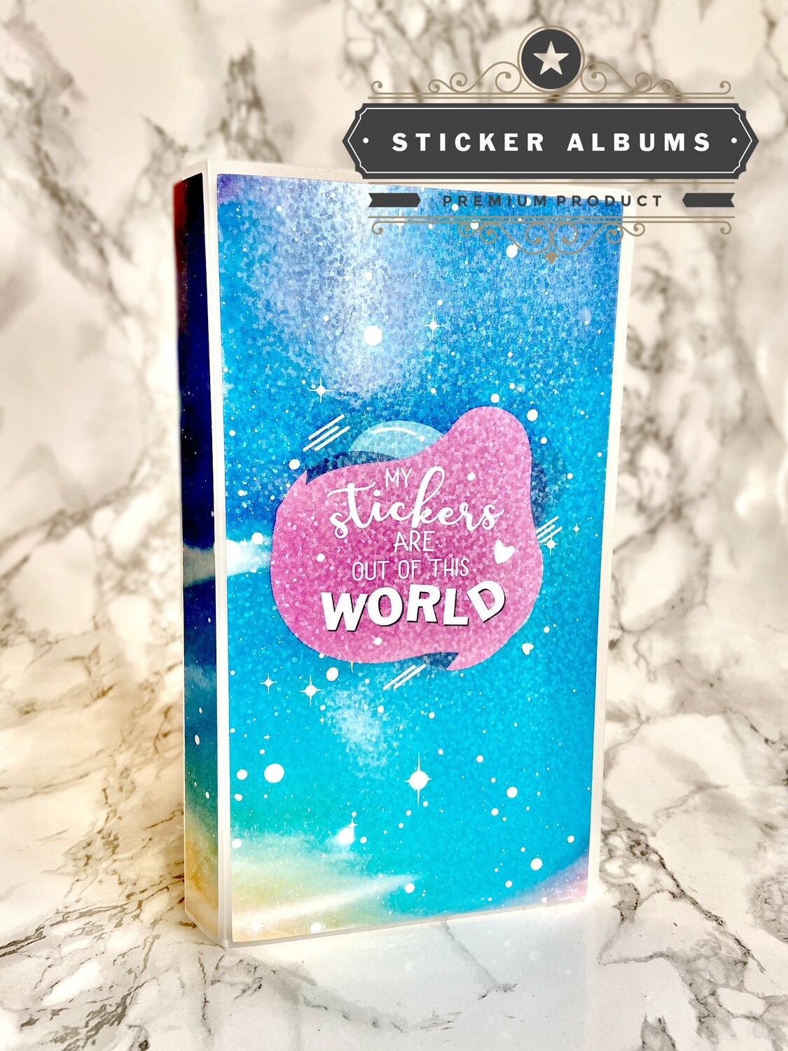 Limited Edition My Stickers are Out of this World Sticker Album | Holographic Sticker Storage Hobonichi Weeks