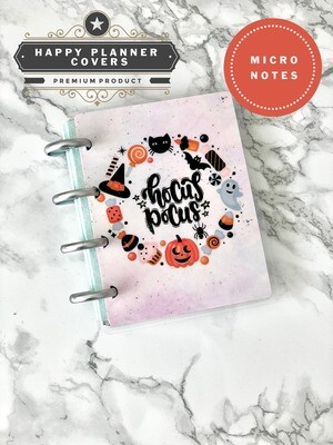 Papillon Papeterie | Hocus Pocus Happy Planner Micro Notes Cover | Cute Halloween Black Cat