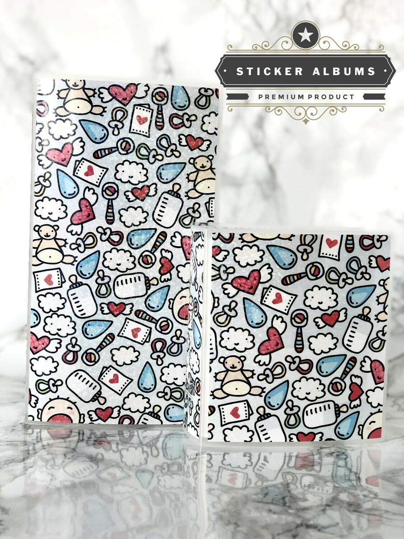 Limited Edition Kawaii Sticker Album | Holographic Sticker Storage Hobonichi Weeks
