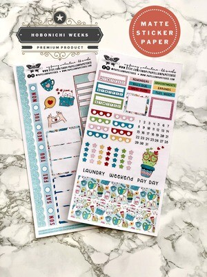 My Funny Valentine Weekly Sticker Kit | Planner stickers for Hobonichi Weeks
