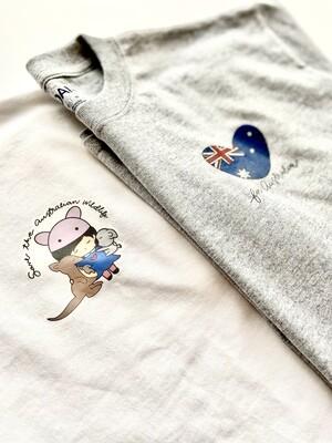 mika+michi Save the Australian Wildlife T-Shirt *PRE-SALE*