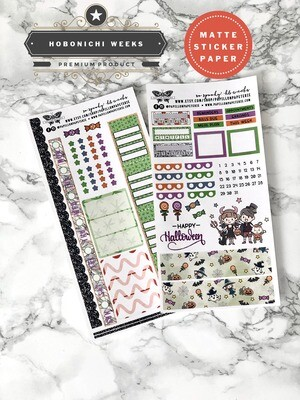 Papillon Papeterie | So Spooky! Weekly Sticker Kit | Planner stickers for Hobonichi Weeks
