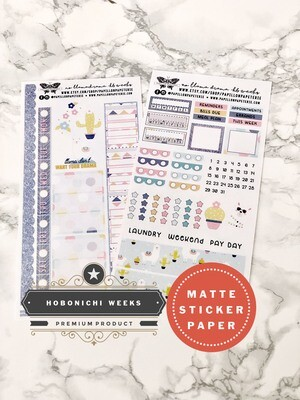 No Llama Drama Weekly Sticker Kit | Planner stickers for Hobonichi Weeks