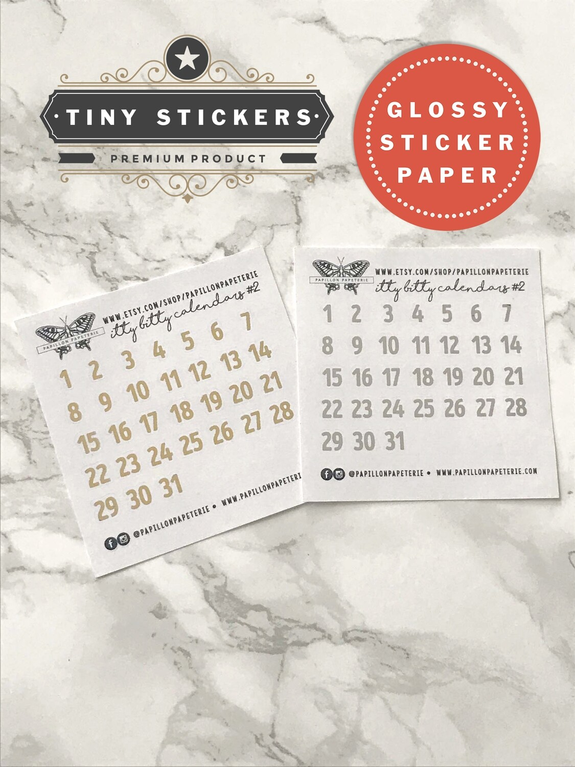 Itty Bitty White Alpha Calendar Foil Set #2   Functional Planner Stickers Erin Condren Happy Planner A5 Recollections
