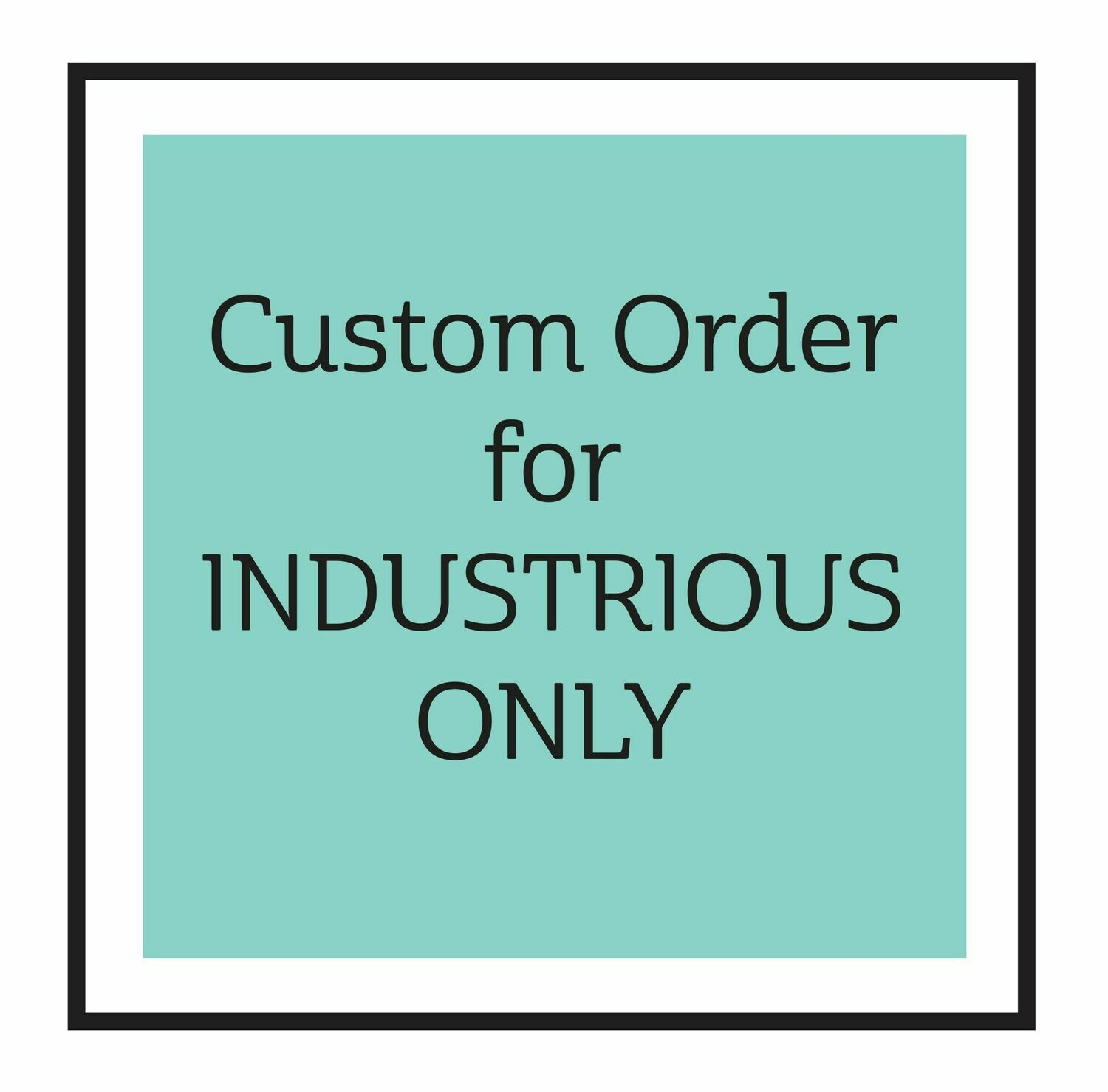 Custom Order for Industrious Staff ONLY