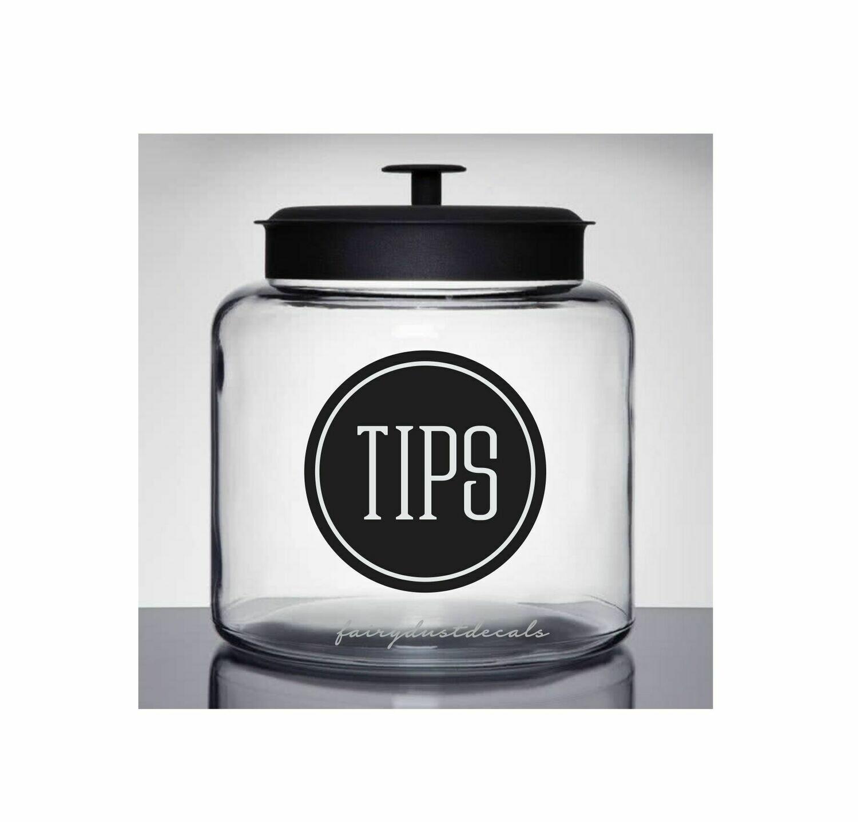 Tip Jar Decal