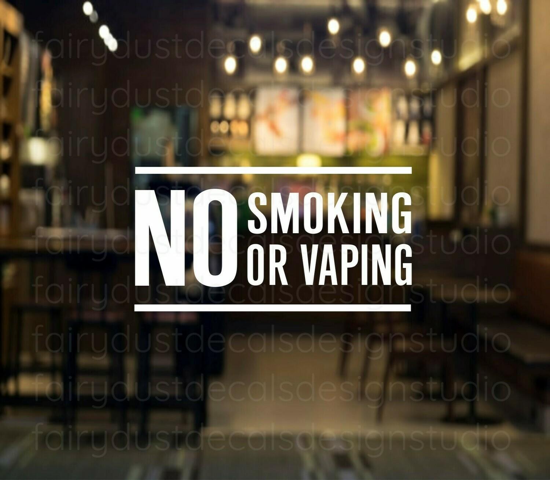 No Smoking or Vaping Decal