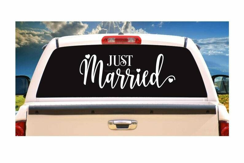 Just Married Wedding Car Decal