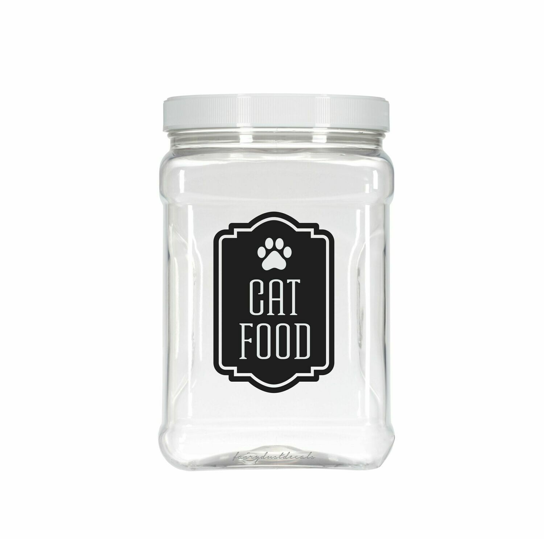 Cat Food Decal