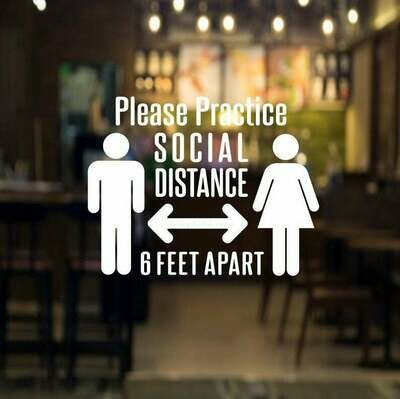 Social Distance Decal