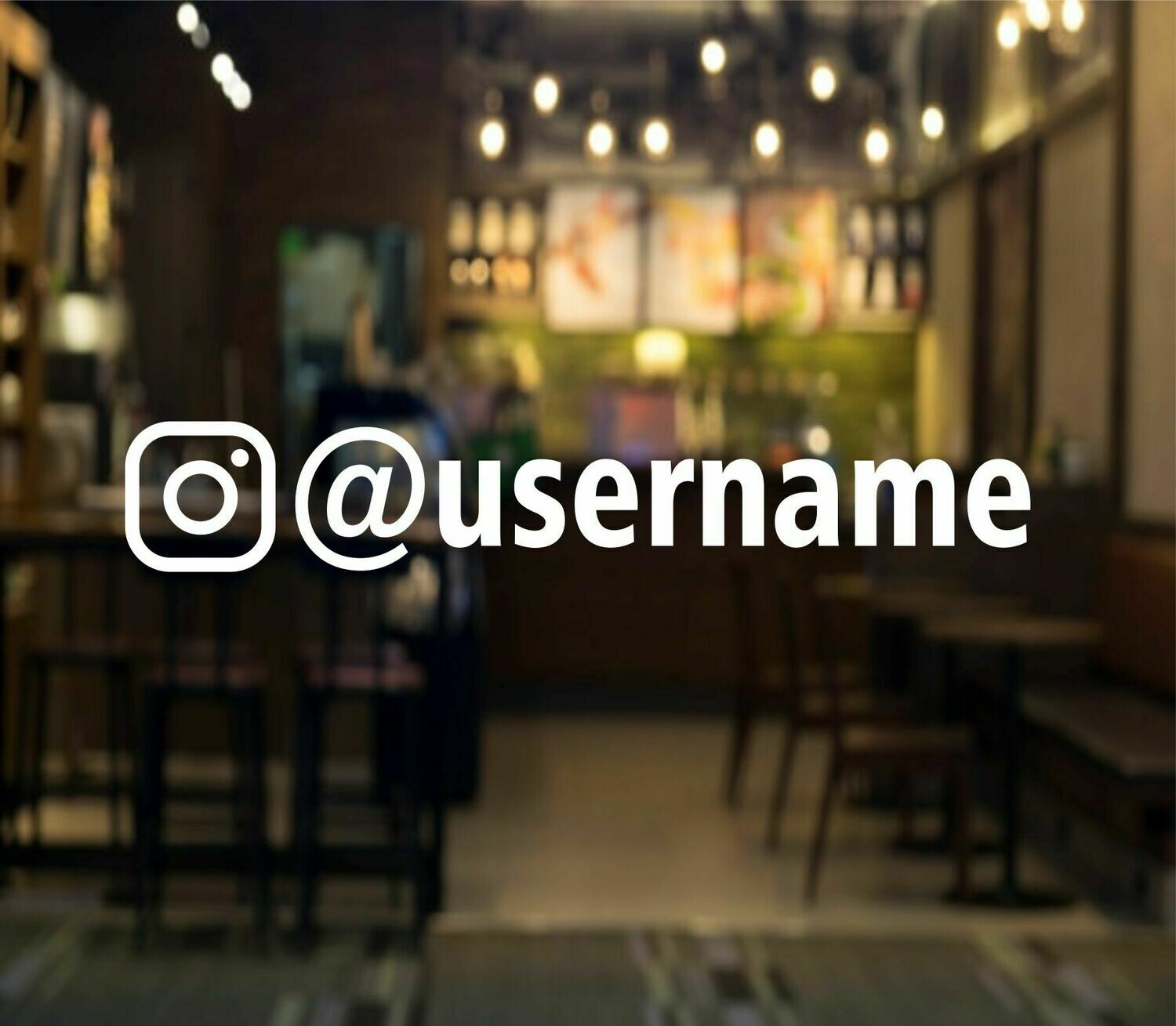 Instagram logo with User Name Decal - block