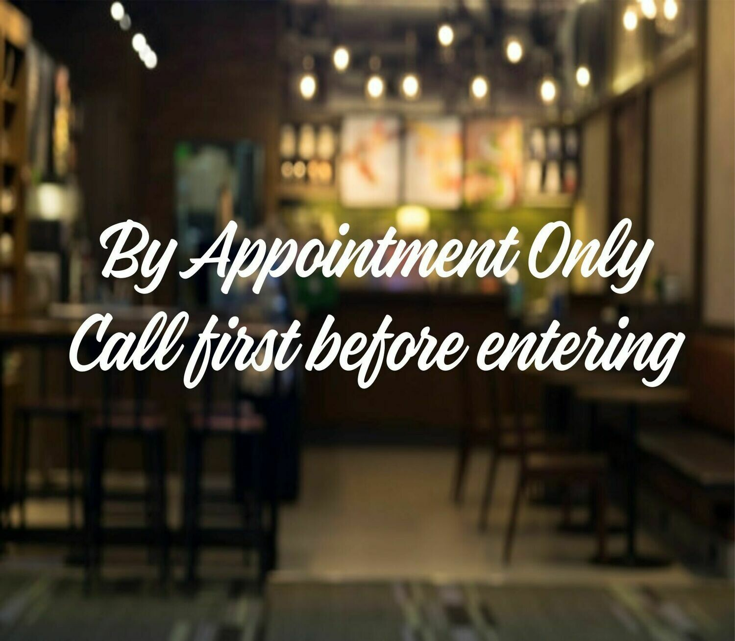 By Appointment Only Decal