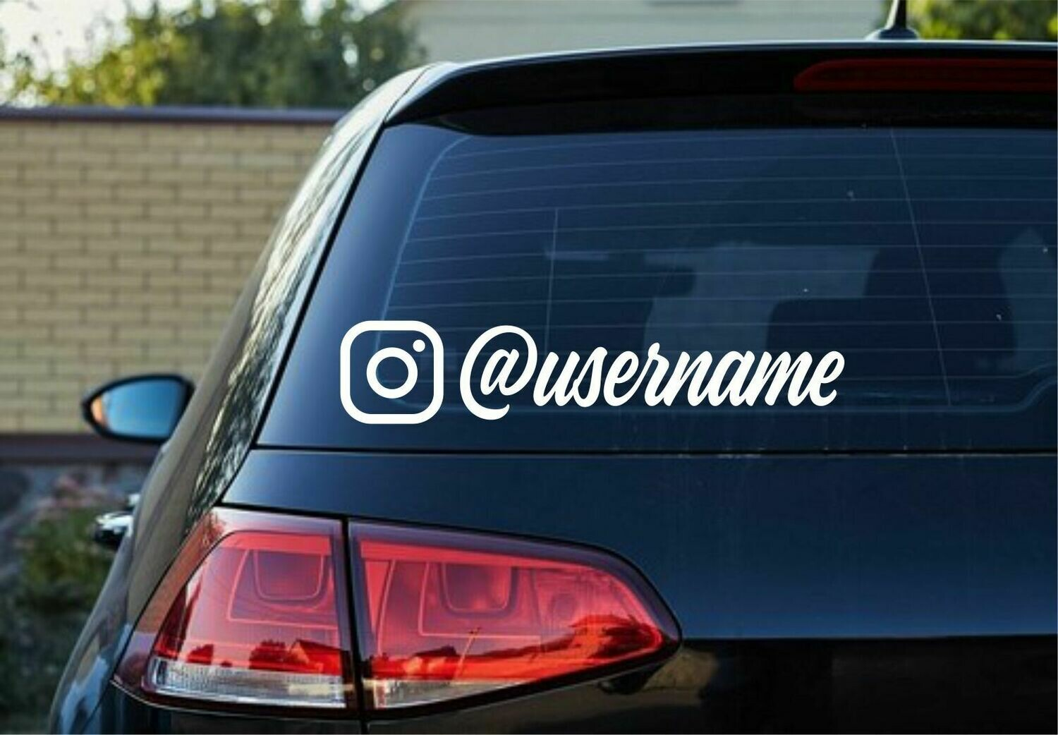 Instagram logo with User Name Decal - script style