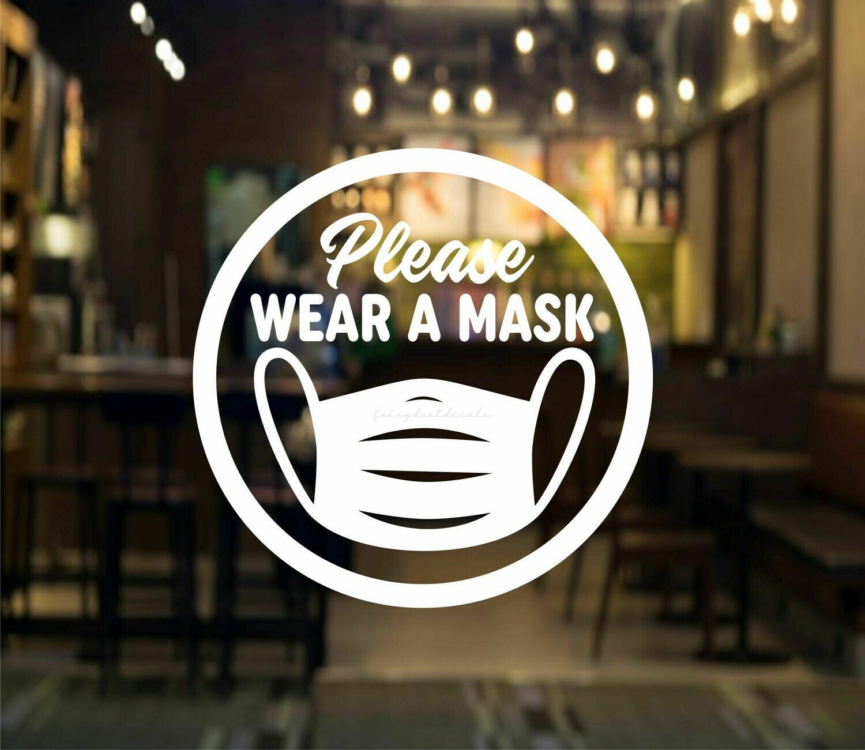 Mask Decal - circle design