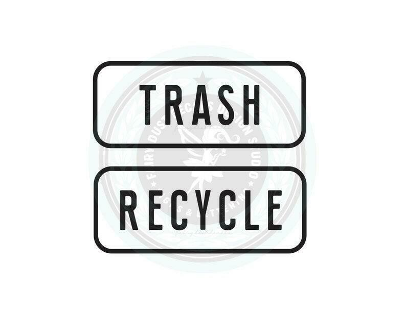 Trash and Recycle Decal Set of 2