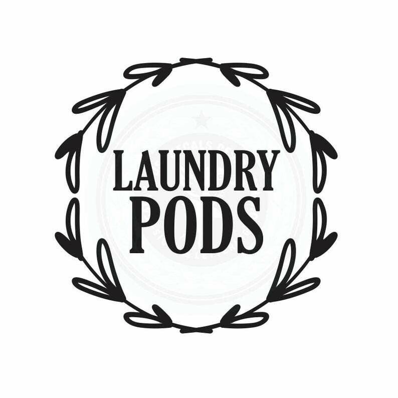 Laundry Pods Decal - wreath design