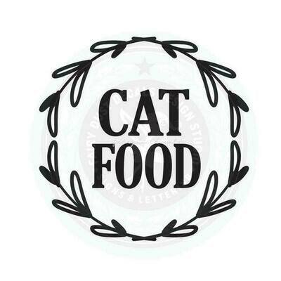 Cat Food Container Decal - wreath design