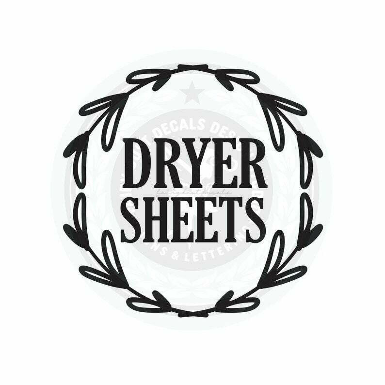 Dryer Sheets Decal - wreath design