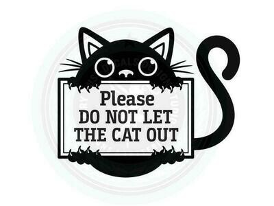 Do Not Let the Cat Outside Decal - Pet Safety