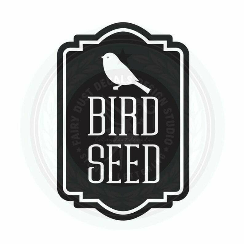 Bird Seed Container Decal