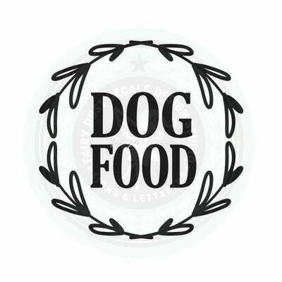 Dog Food Container Decal - wreath design