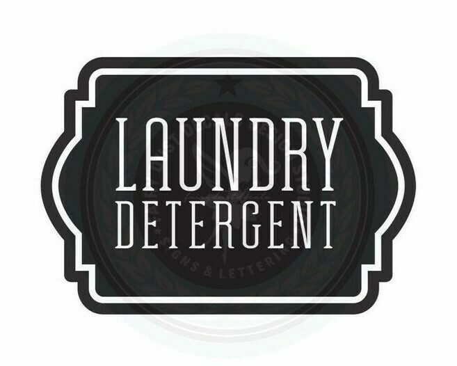 Laundry Detergent Decal