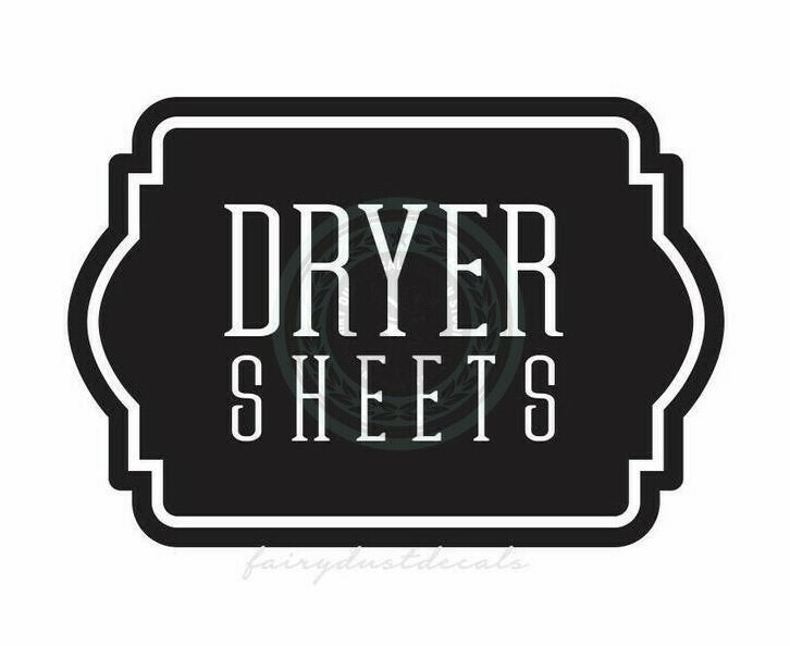 Dryer Sheets Decal