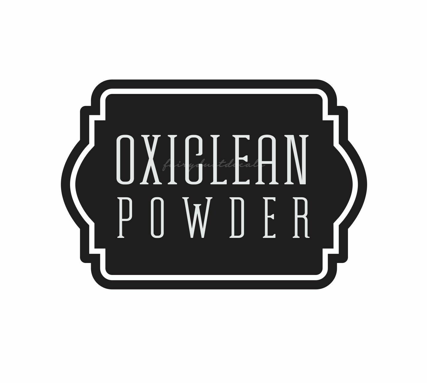 Oxiclean Powder Decal