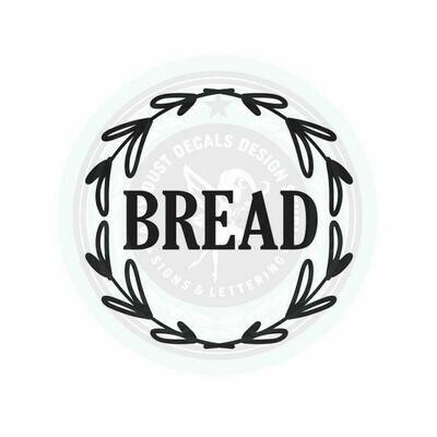 Bread Box Decal - wreath design