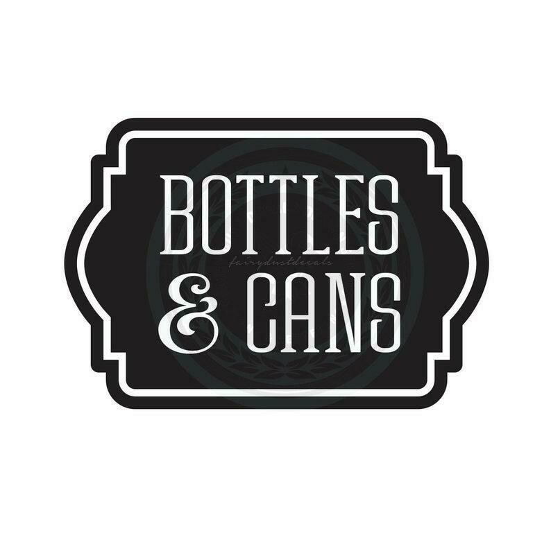 Bottles and Cans Decal - label shape