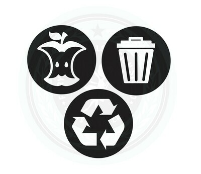 Trash, Recycle and Compost Decal Set of 3