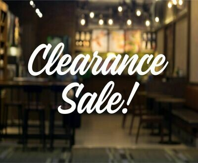 Clearance Sale Decal
