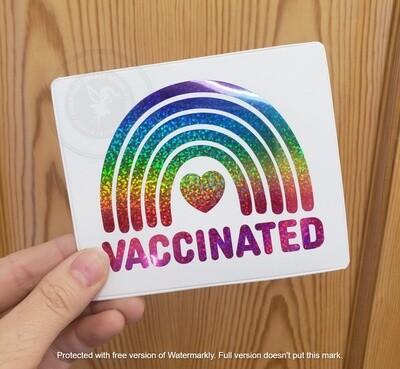 Covid 19 Shot Vaccination Card Holder - rainbow