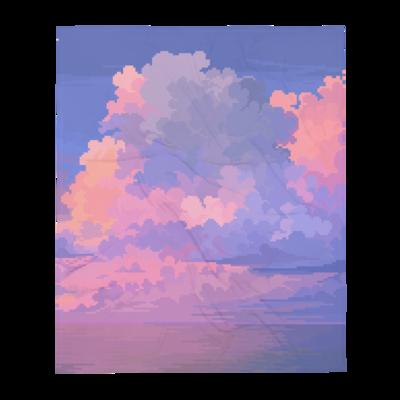 PINK OCEAN THROW BLANKET