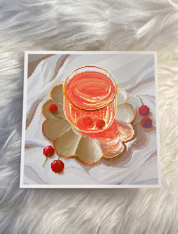 RED TEA PRINT