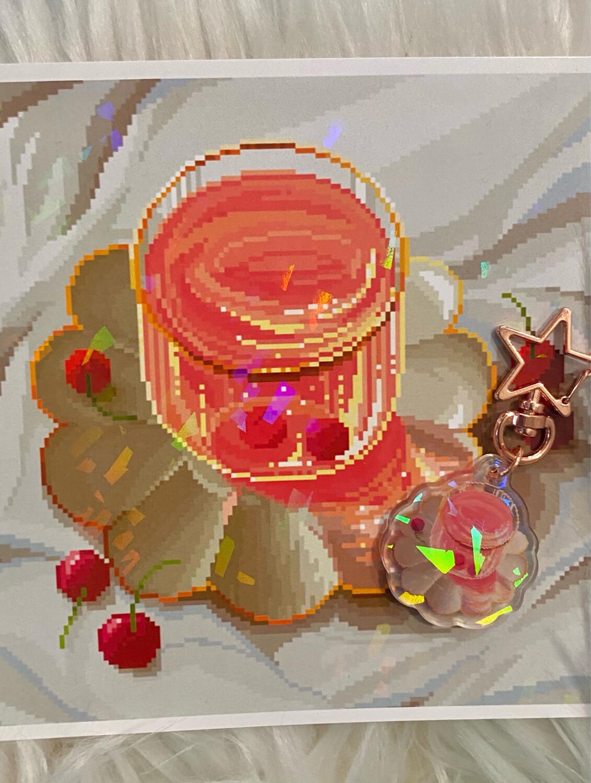 RED TEA PRINT & CHARM