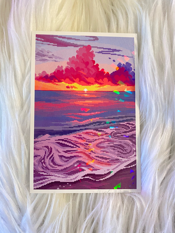 SUNSET OCEAN PRINT