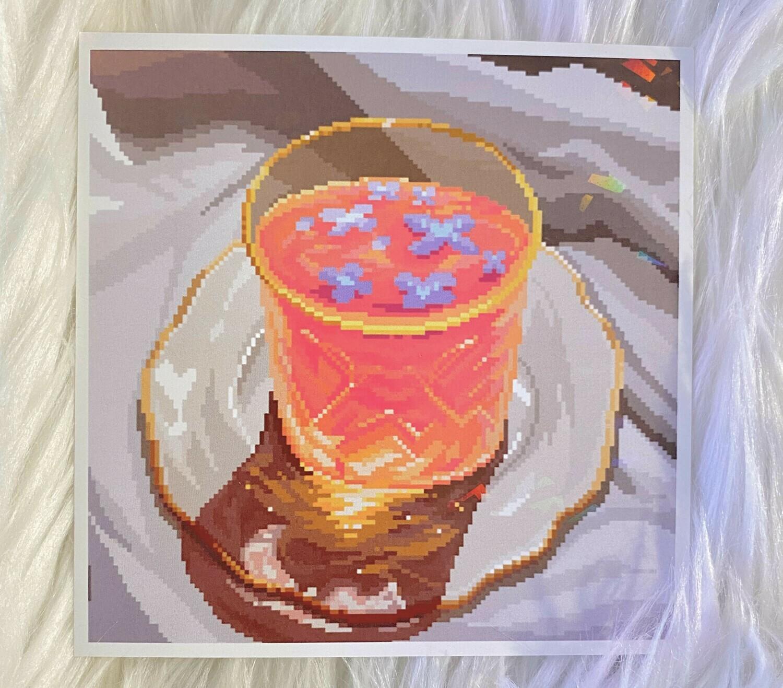 ORANGE TEA PRINT