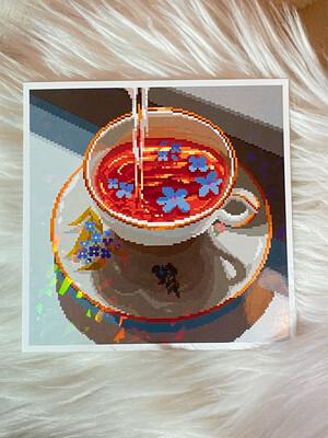 BLUE TEA PRINT