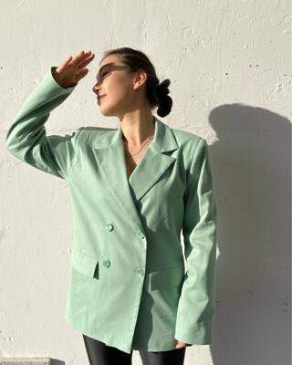 Льняной двубортный пиджак