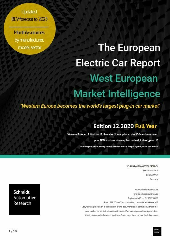 "Full-year 2020 ""Europe becomes the world's largest plug-in car market"""