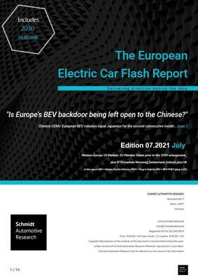 """July 2021 """"Is Europe's BEV backdoor being left open to the Chinese?"""""""