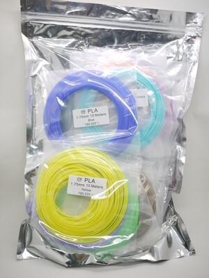 PLA Filament 20 colors pack (10m x 20 Colors)