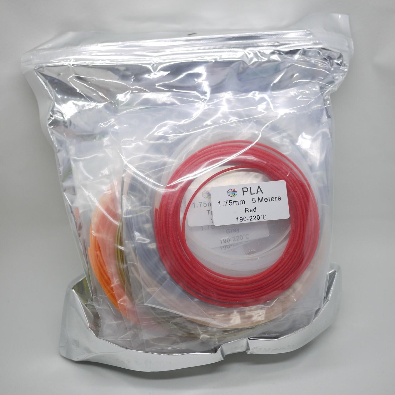 PLA Filament 20 colors pack (5m x 20 colors)