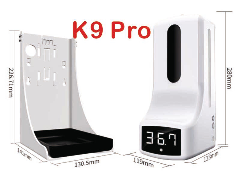 K9 Pro 2 in 1 Infrared Thermometer & Hand Sanitizer Dispenser