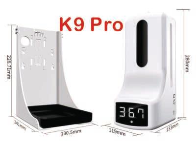 K9 Pro 2 in 1 Infrared Thermometer & Hand Sanitizer Dispenser