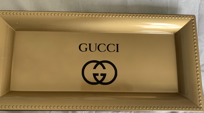 GG logo inspired tray gold