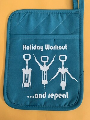 Holiday workout pocket pot holder
