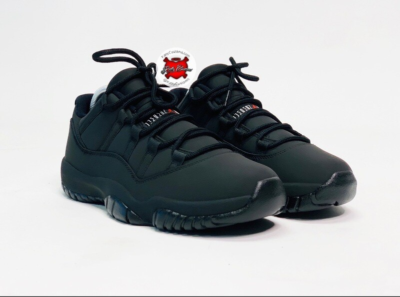 Matte Black Jordan 11 Low
